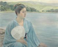 シリーズ1枚のゆかたから…黒田清輝「湖畔」 - たんす屋高崎店ブログ