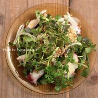 たことクレソンのサラダ - ふみえ食堂  - a table to be full of happiness -