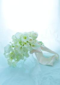 アームブーケヒルトン東京様へカラーとバラのブーケイチエッタ - 一会 ウエディングの花