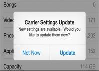 Check Carrier Settings Update to Fix iPhone Not Sending Pictures - Cell phone news, tips and rumors