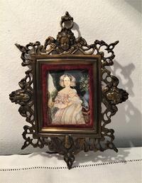 オリジナル画入り透かし彫りメタル額919 - スペイン・バルセロナ・アンティーク gyu's shop