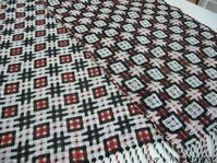deflected double weave織り上がりました - アトリエひなぎく 手織り日記