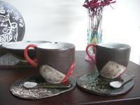 ■カップ&ソーサー■ - ちょこっと陶芸