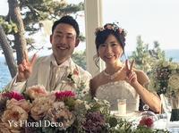 白とピンクベージュの花冠 - Ys Floral Deco Blog