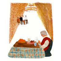 挿し絵の仕事新聞連載「未踏の老いを生きる02」 - yuki kitazumi  blog