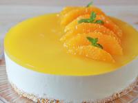 オレンジのレアチーズケーキ - 美味しい贈り物