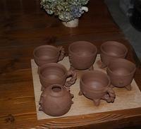 陶芸作業はこんな感じで進めております! - 織月紅希の真っ赤な月窯ギャラリー