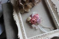 アンティークカラー布花ブローチ - Petit mame