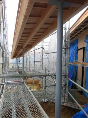 北条の家の施工状況 - 川添純一郎建築設計事務所の日々