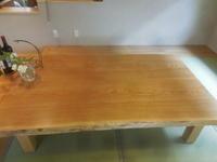 ダイニングテーブル・座卓の納品 - 手作り家具工房の記録
