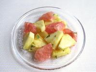 <イギリス菓子・レシピ> パイナップルとルビーグレープフルーツのサラダ【Pineapple and Pink Grapefruit Salad】 - イギリスの食、イギリスの料理&菓子