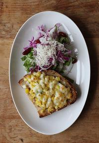コーンチーズトースト - Nasukon Pantry