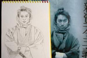 川岡大次郎さんを描いてみました -
