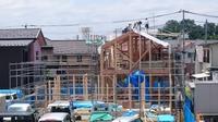 『風致地区の店舗併用住宅』上棟しました。 - Nao-Log