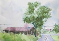 稲木小屋のある風景 - ryuuの手習い