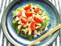 レンジだけで、鮭の散らし寿司♪ - Minha Praia