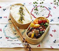 豚肉と夏野菜の生姜焼き弁当♪ - ☆Happy time☆