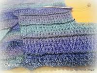 アフガン編みのカシュクール♪ - ルーマニアン・マクラメに魅せられて