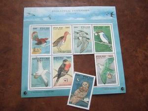 鳥と手紙の切手 - grinte