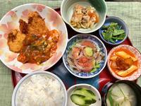 チキンカツ&食べるソース★(^^♪・・・・・700円ランチ - 日だまりカフェ