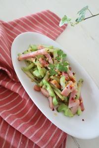 (レシピ)ブロッコリー茎の旨辛塩きんぴら - おうちカフェ*hoppe