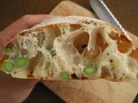 枝豆と三十穀の平焼きパン - slow life,bread life