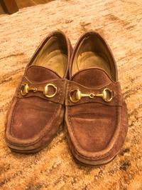 グッチビットローファー お手入れbefore - Shoe Care & Shoe Order 「FANS.浅草本店」M.Mowbray Shop