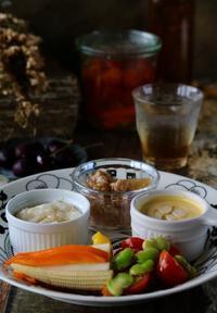 辛味餅の朝ごはん - ゆきなそう  猫とガーデニングの日記