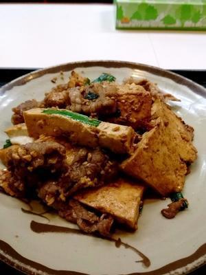 那覇・松山 「みかど」 がっつり!豆腐と牛肉のニンニク炒め - 美酒佳肴