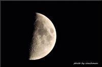上弦の月(七月九日) - 北海道photo一撮り旅