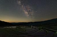 天の川~星降る棚田 - katsuのヘタッピ風景