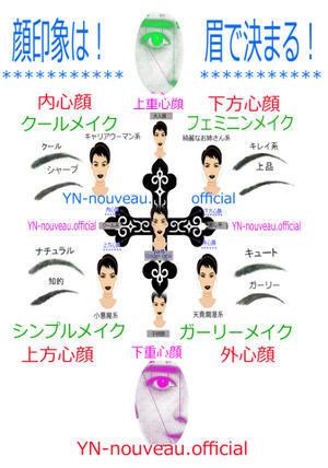 パーソナルカラー顔タイプ!顔印象は眉の形で決まる!!! - パーソナルカラー診断&骨格診断、顔診断♪
