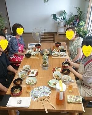 文月のお稽古、始まっています。 - 長野市からぴっころままの「繋ぐ和食料理教室」