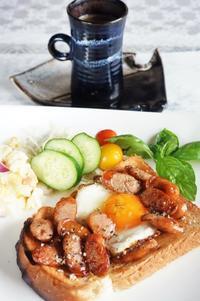 ■朝ご飯【たまにはウインナーエッグトーストでも^0^】 - 「料理と趣味の部屋」
