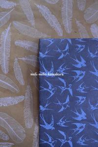 ◆ラッピング*ヴィンテージボタン×ツバメのラッピングペーパー♪ - フランス雑貨とデコパージュ&ギフトラッピング教室 『meli-melo鎌倉』