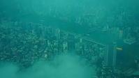 梅雨雲の下の東京市街 - 風の香に誘われて 風景のふぉと缶