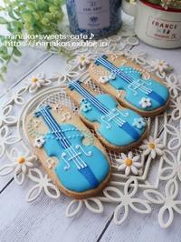バイオリンのアイシングクッキー - nanako*sweets-cafe♪