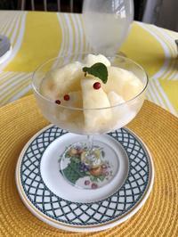 とっておきのレシピで白桃のシャーベット - やさしい光のなかで