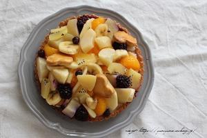 久々に次女の焼き菓子作り♪フルーツてんこ盛りタルト - neige+ 手作りのある暮らし