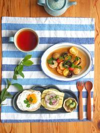 アヒージョ朝ごはん - 陶器通販・益子焼 雑貨手作り陶器のサイトショップ 木のねのブログ