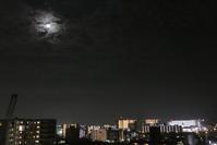 7/17梅雨の最中の満月見えた - そらいろのパレット