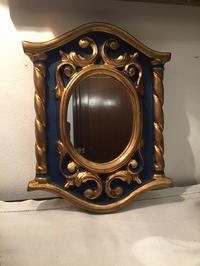 鏡入り木製金彩額924 - スペイン・バルセロナ・アンティーク gyu's shop