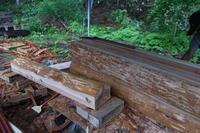 風呂桶制作 - 福島県南会津での山暮らしと制作(陶芸、木工)