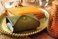 セミオーダー・プエブロコンパクトキー財布とエルクのブックカバー - 時を刻む革小物 Many CHOICE~ 使い手と共に生きるタンニン鞣しの革
