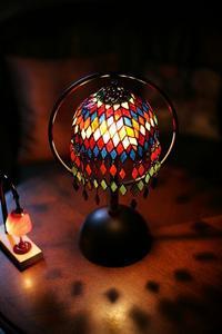生徒さんのエスニック風ランプ完成 - ステンドグラスルーチェの日常