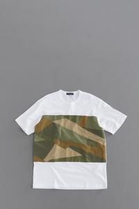 COMME des GARCONS HOMME Camouflage Big T (White × Mix) - un.regard.moderne