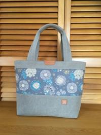 帆布と花柄のシンプルバッグ - レイの手仕事