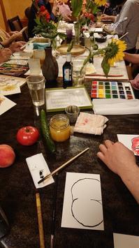 7月の絵手紙部 - 日本料理しみずや 気ままな女将通信