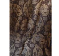 ジャカードカーテン 165cm×322cm アール・デコ 花柄とリボン  /G353 - Glicinia 古道具店