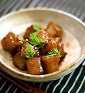 こんにゃくの甘辛煮(鶏と里芋)ネギ風味 - KICHI,KITCHEN 2